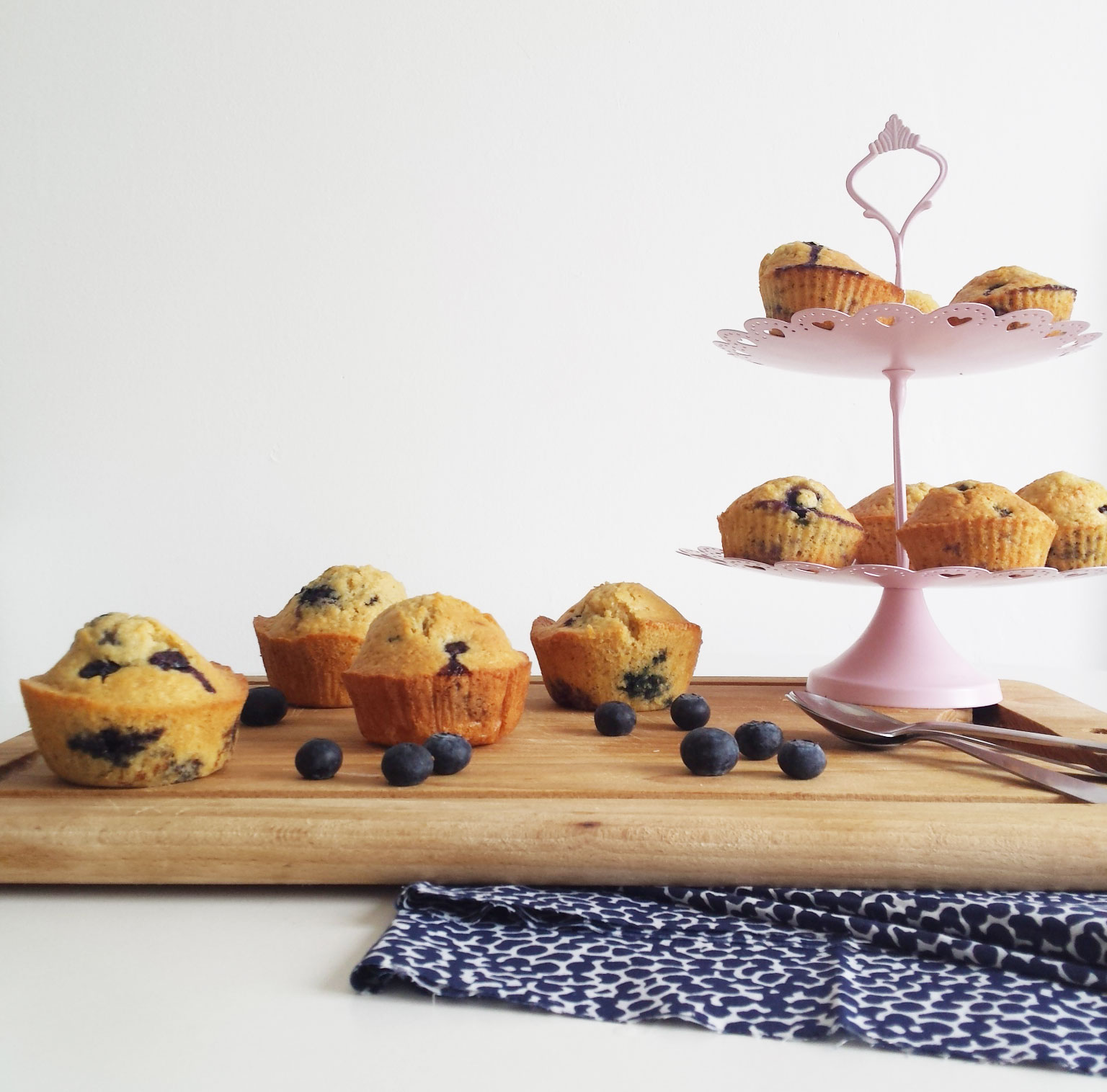 Blueberry muffins au lait d'amandes