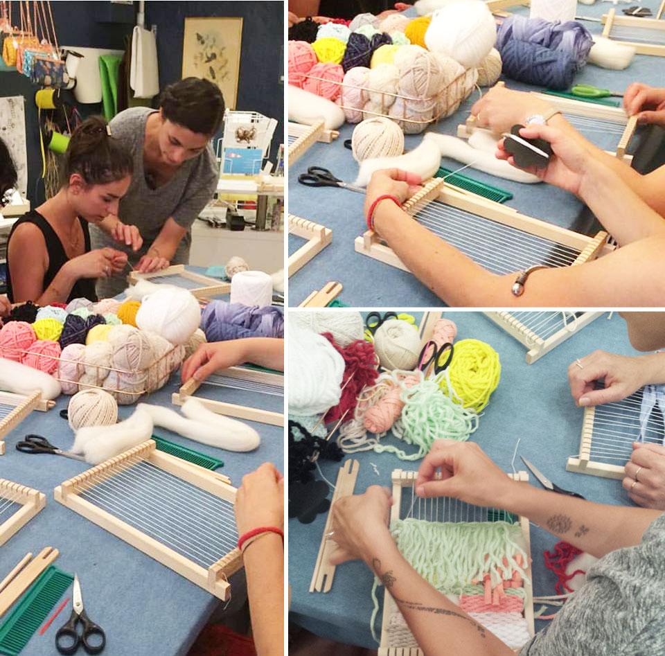L'apprentissage du tissage avec Julie Robert
